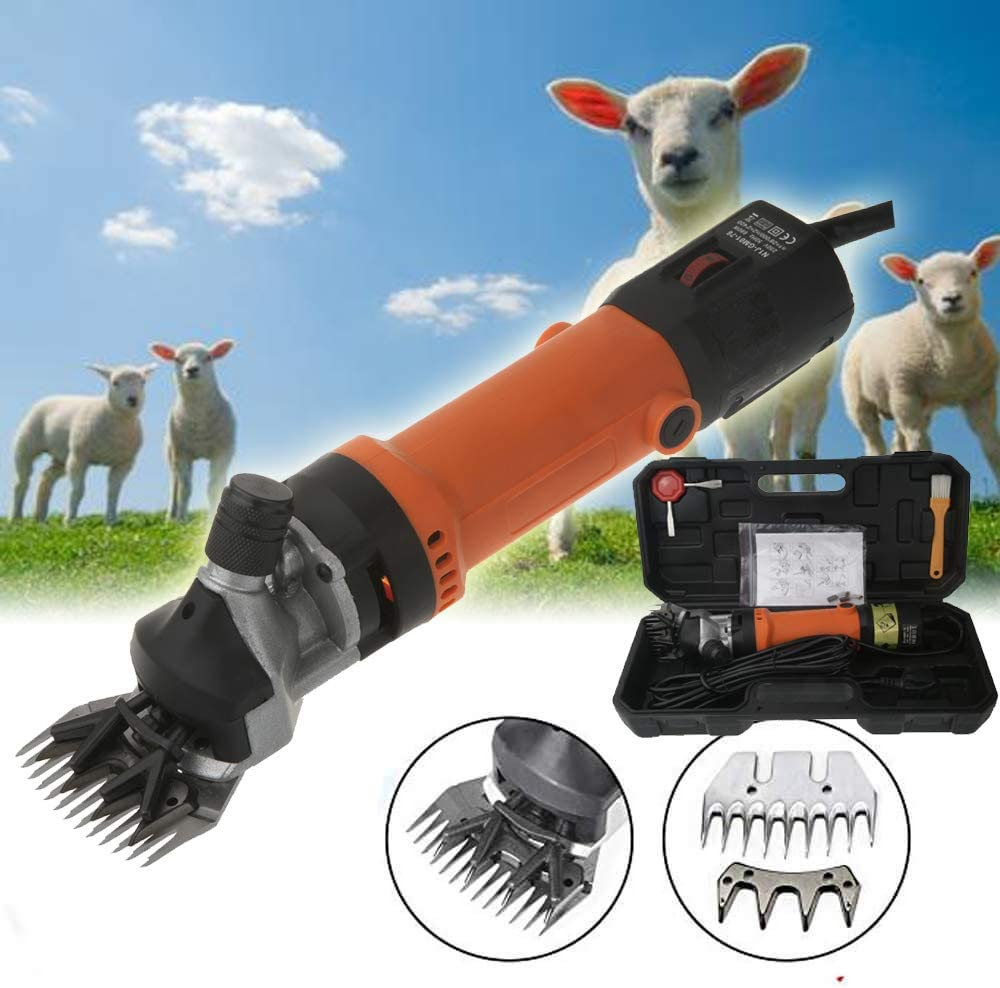 Red Powerful Electric Sheep Shearing Clippers Shears Animal Wool Sheep Cut Goat Alpaca Pet Trimmer Farm Machine UK Plug 690W