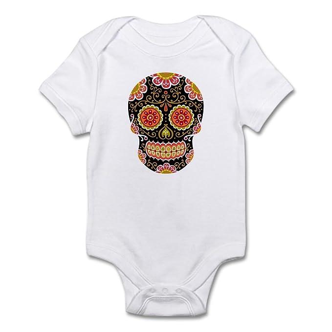 32eac89132 Amazon.com  CafePress-Black Sugar Skull-Cute Infant Bodysuit Baby ...
