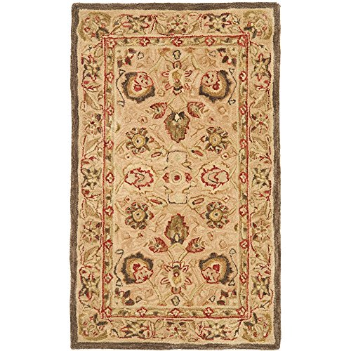 Safavieh Anatolia Collection AN512A Handmade Traditional Oriental Beige Premium Wool Area Rug (4' x 6')
