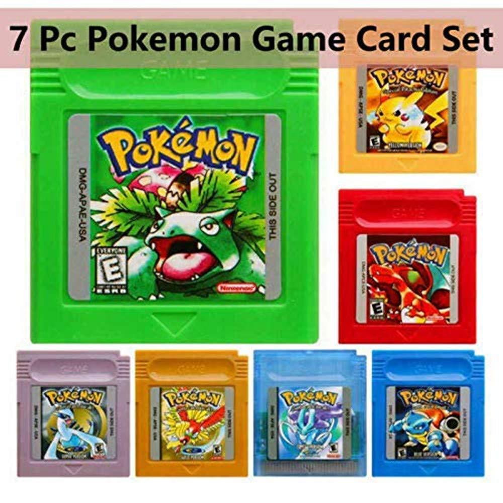 7 Pcs Pokemon GameBoy Color Games Cartridge Game Card Carts For Nintendo GBM GBC USA Version
