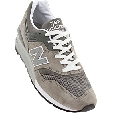 reputable site 0ce54 9c46f Amazon.com   New Balance 997 Men s Sneakers Made in USA Grey White M997gy,    Fashion Sneakers