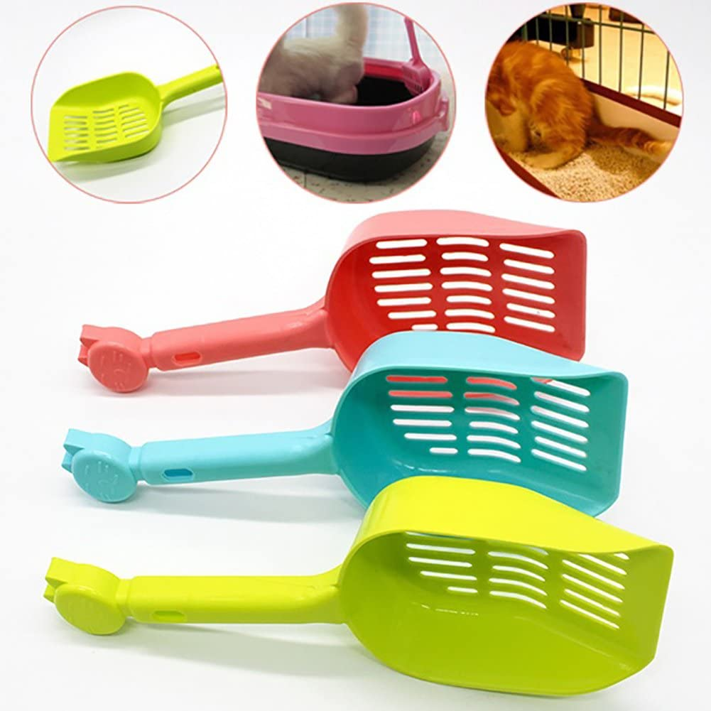 Afco Cat Litter Shovel,Hollow Out Candy Color Pet Cleaner Scooper Tool for Cat Dog Accessory