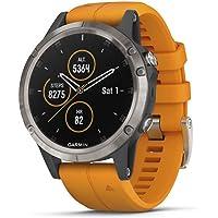 Garmin, Reloj Deportivo Fenix 5 Plus, Modelo 010-01988-04, Naranja