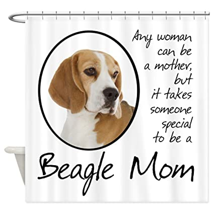 Amazon CafePress Beagle Mom Shower Curtain Decorative Fabric