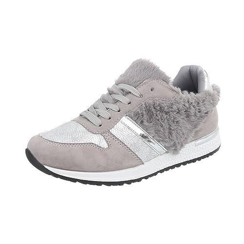 Ital-Design Scarpe da Donna Sneaker Piatto Sneakers High Bianco Taglia 39 SPXQhpFe