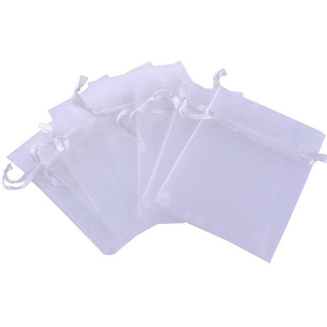 Souarts Blanc Organza Sachets Cadeau Bijoux 7X9cm Lot de 25pcs Hello_Crafts