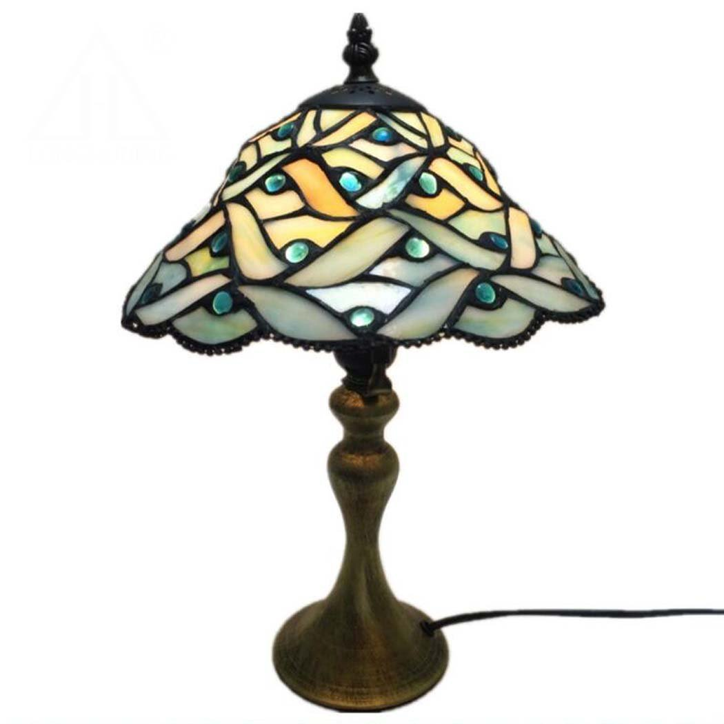 Modern Desk Lamp 10 Inch Tiffany Style Stained Glass Table Lamp