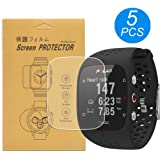 [5-Pcs] for Polar M430 / M400 Watch Screen Protector,Full Coverage Screen Protector HD Clear Anti-Bubble and Anti-Scratch for Polar M430/M400