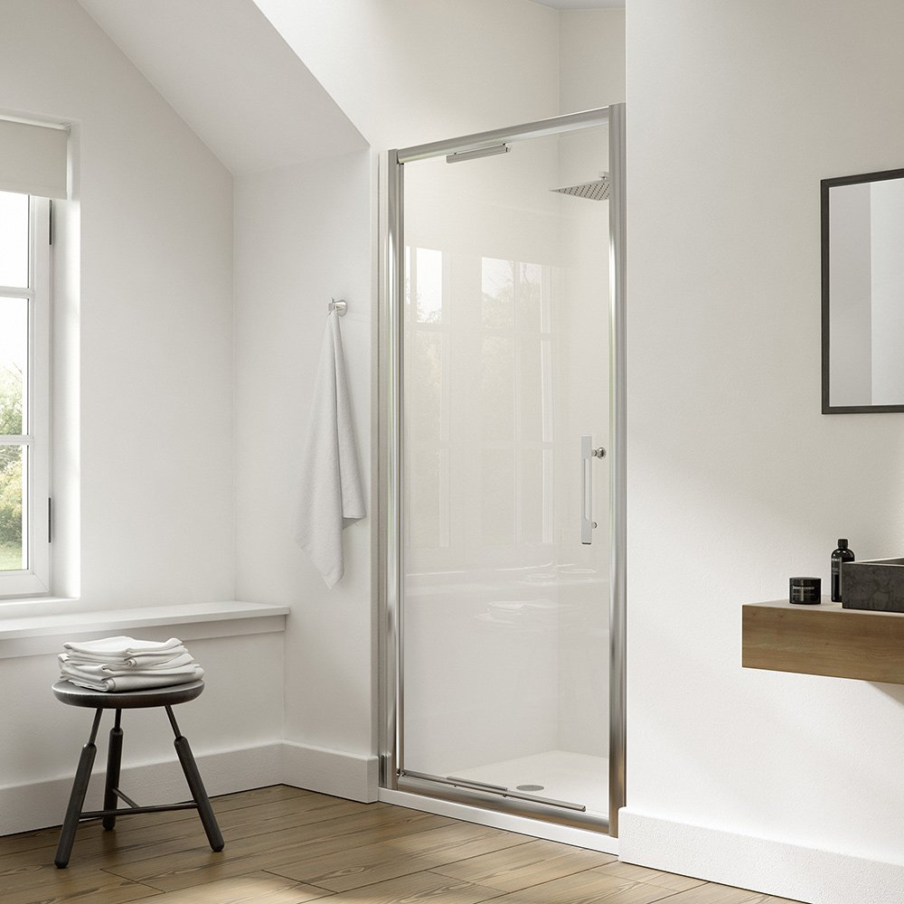 Dilusso Ight 900 850mm Infold Shower Door For A Recess Alcove