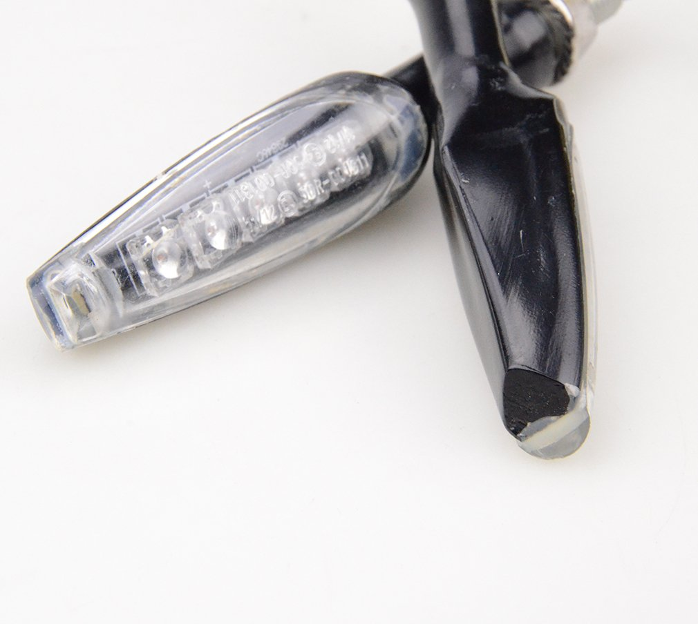goofit Universal schwarz Motorrad LED-Anzeige Blinker Leuchtmittel f/ür Fahrrad Scooter ATV