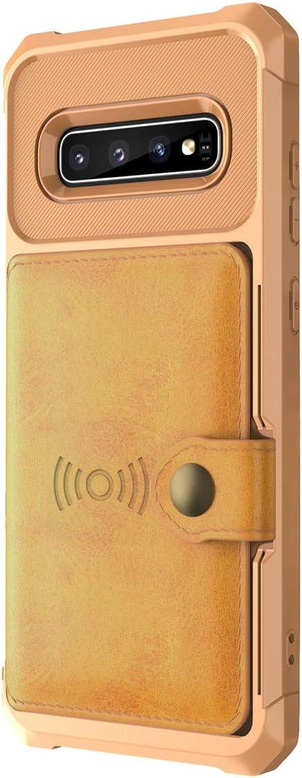 Classic Slim Stylish Cover avec Boutons Fente pour Carte /Étui Portefeuille en Cuir Anti-Choc Protection Housse Ultra Mince Anti-Rayures Cover vivio Compatible Samsung Galaxy S10 Coque