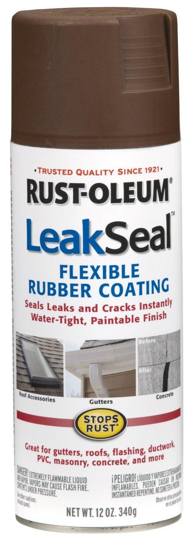 Nice Flexible Spray Paint Part - 12: Rust-Oleum 267976 12-Ounce Leak Seal Flexible Rubber Sealant, Brown - Latex  Caulk - Amazon.com