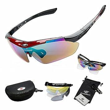 West ciclismo ciclismo gafas de sol polarizadas 100% protección UV, Niños hombre Infantil mujer Unisex, rojo: Amazon.es: Deportes y aire libre