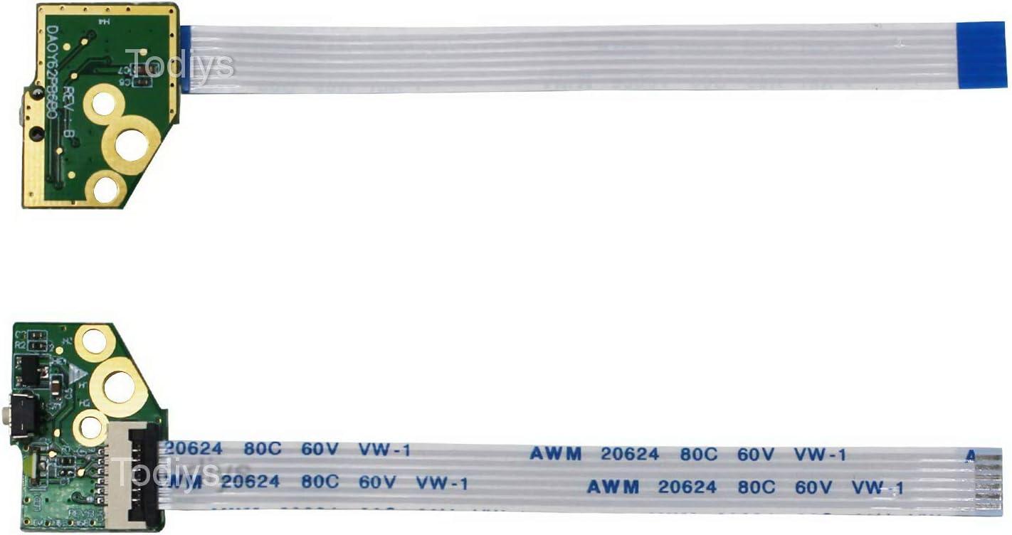 Todiys Power Button Switch Board for HP X360 13-A 15-U Series 13-A010NR 13-A012CL 13-A110DX 13-A113CL 13-A233CA 13-A317CL 15-U010DX 15-U011DX 15-U111DX 13-A133CA 15-U337CL 774599-001 DA0Y62PB6B0