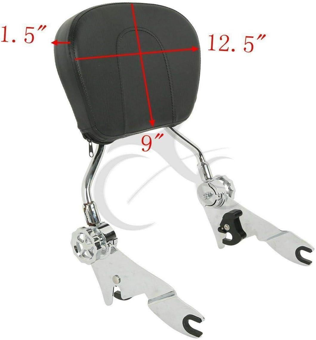 TCMT Detachable Passenger Backrest Sissy Bar With 2-Up Luggage Rack 4 Point Docking Hardware Kits Fits For Harley Touring 2009-2013