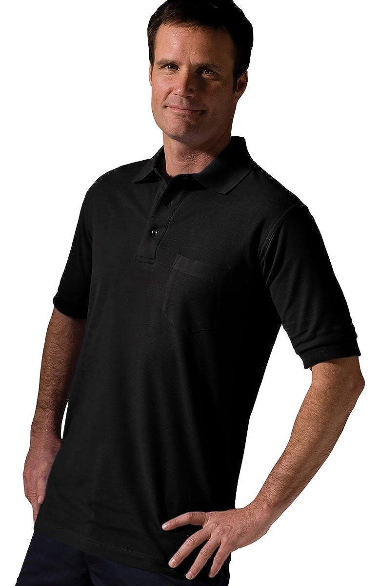 Edwards Big and Tall Short Sleeve Pique Pocket Shirt