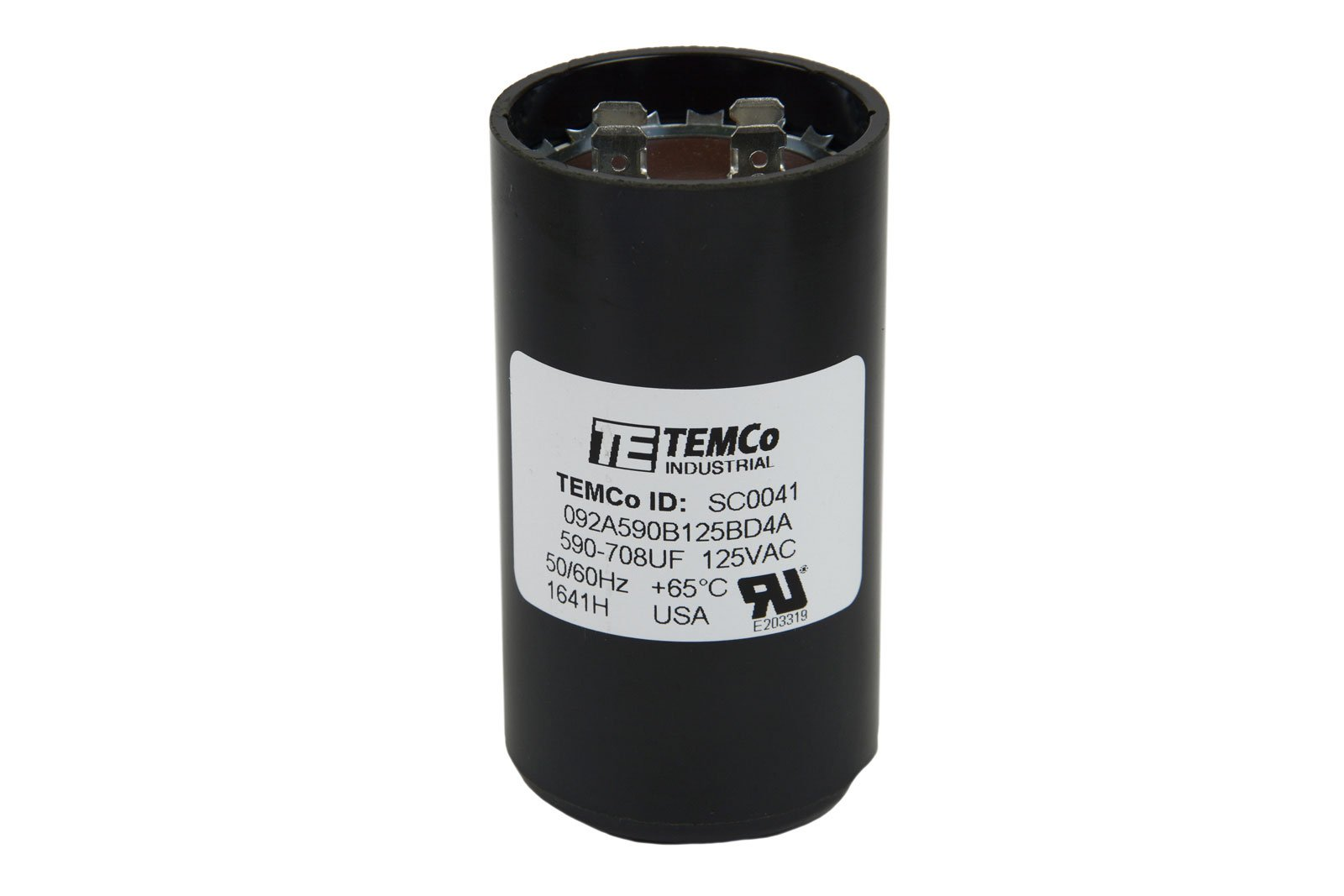 TEMCo Motor Start Capacitor SC0041-590-708 mfd 110-125 V VAC Volt uf Round HVAC AC Electric