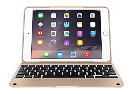 on sale b4bba 9549a Incipio ClamCase Pro for iPad mini 1, 2, 3, ClamCase Pro Bluetooth Keyboard  [100 Hrs] for iPad mini 1, 2, 3 - White/Gold