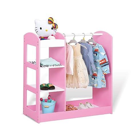 Muebles Estantería infantil rosa Percha para niños Balcón ...