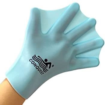 OneMoreDealDirect Silicone Webbed Swimming Gloves