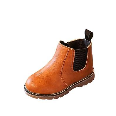 Enfants garçons filles Rétro Bottes Haute Cheville Chaussures de Neige hiver chaude Gris 35 VW1oBwSN