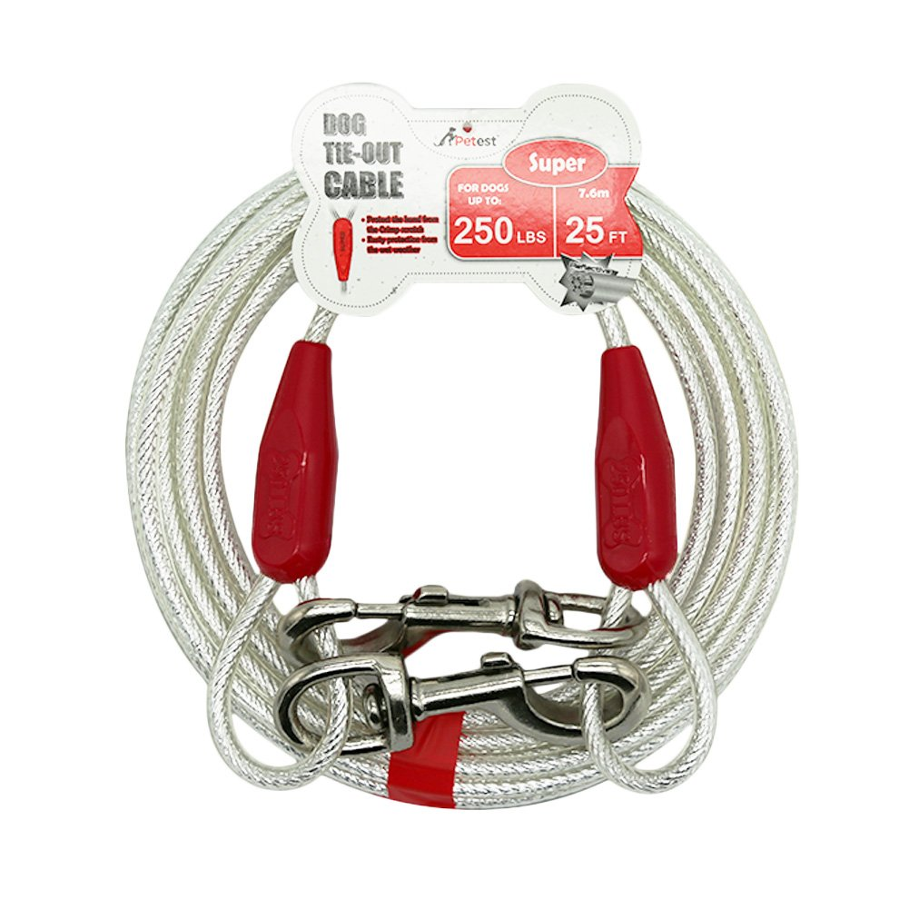 Petest 30ft Reflective Tie-out Cable for Heavy Dogs Up To 125 Pounds /…