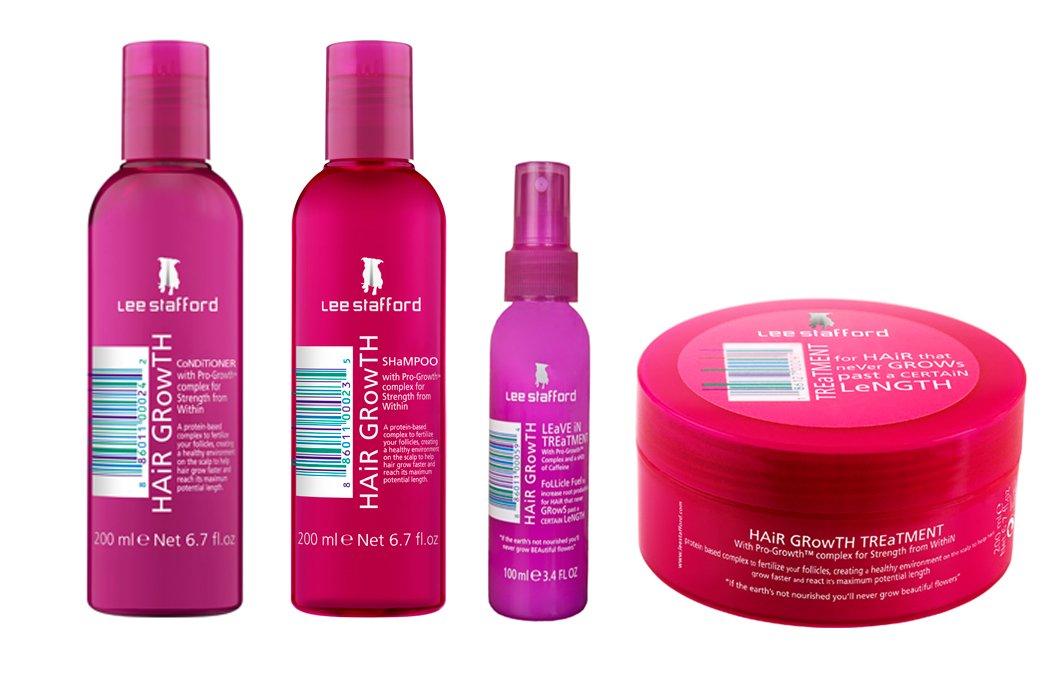 Lee Stafford Hair Growth Treatment, Shampoo, Conditioner & Leave In Treatment Set by lee Stafford 895024002259