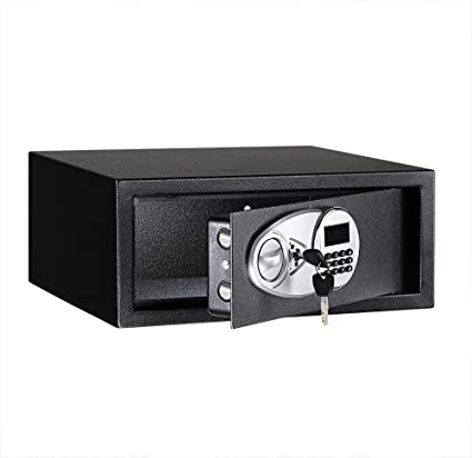 AmazonBasics - Caja fuerte (20L), color negro: Amazon.es ...