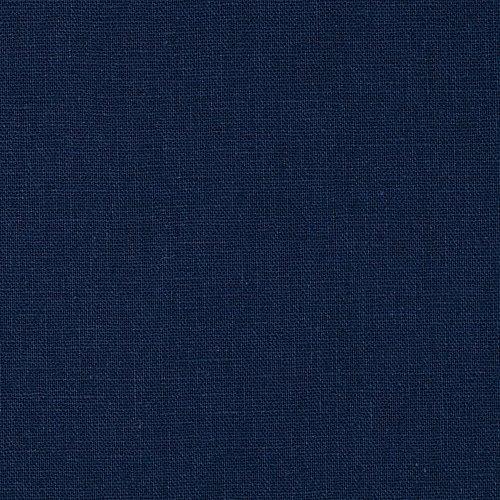 Robert Kaufman Kaufman Essex Linen Blend Midnight Fabric by The Yard, Deepest Blue