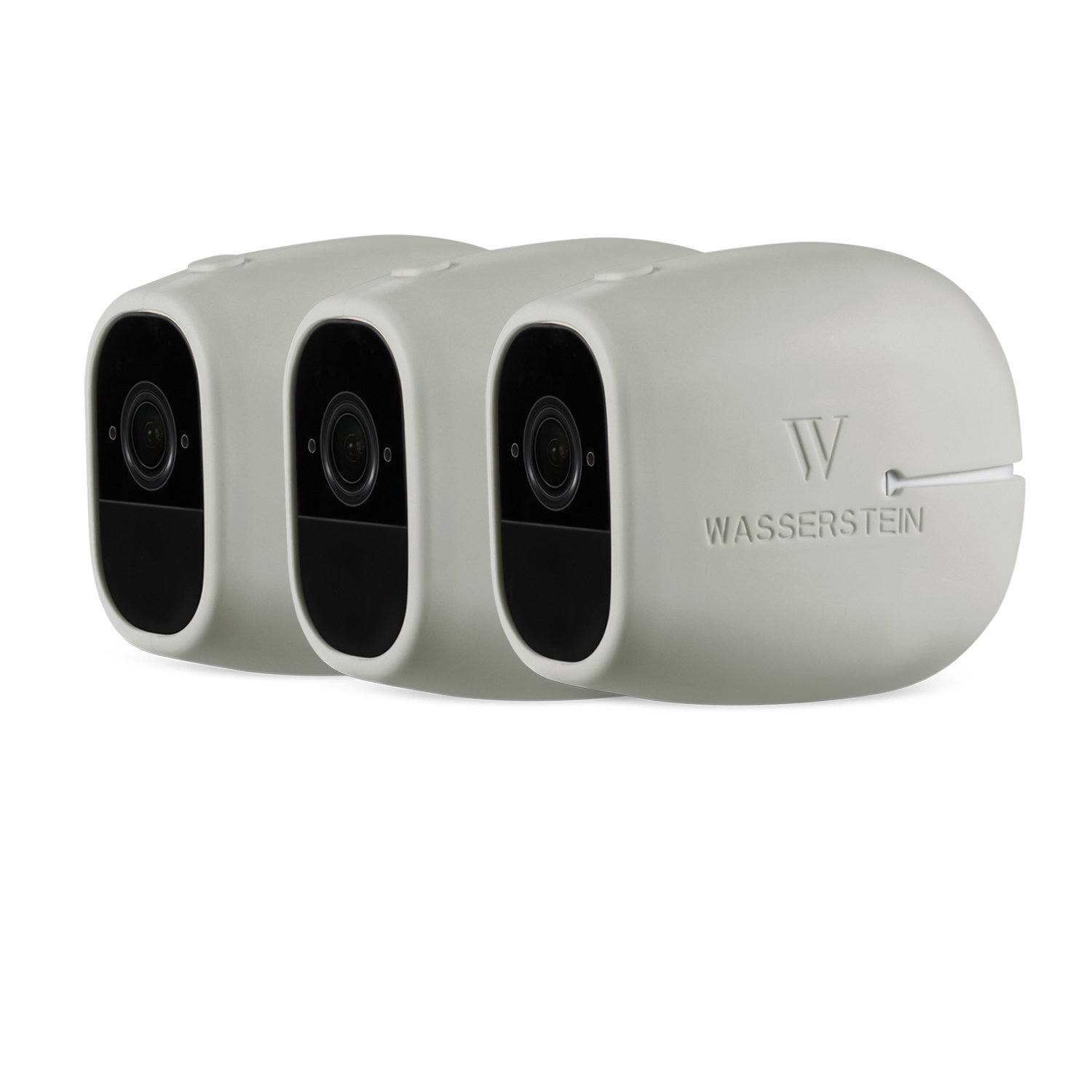 3 x Silicone Skins Compatible With Arlo Pro & Arlo Pro 2 Smart Security - 100% Wire-Free Cameras - by Wasserstein (3 Pack, Wheat)