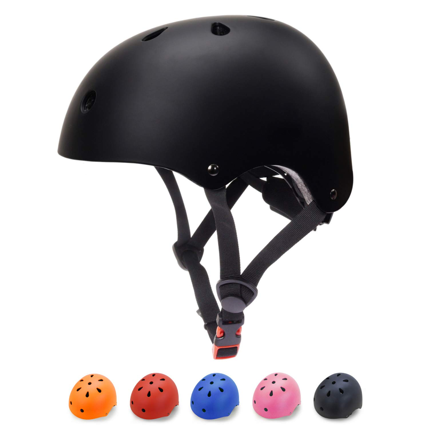 Toddler Bike Helmet 3-5 Kids Helmet Multi-Sport Skateboard Scooter Cycling Helmet CPSC Certified Impact Resistance Ventilation Adjustable Helmet Kids (Black, Small)