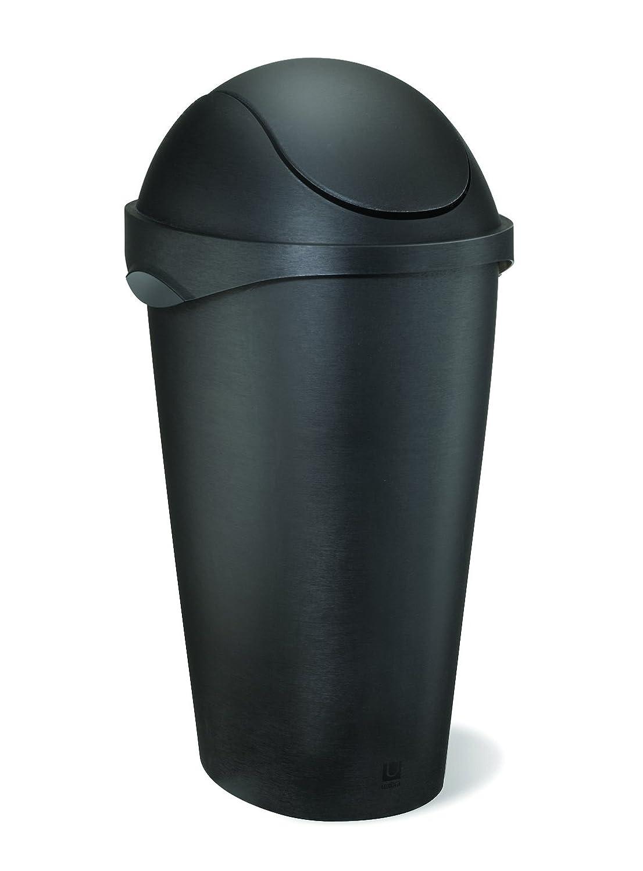 umbra スイングフタ付ゴミ箱 SWINGER CAN(スウィンガーカン) 45L ブラック 2086300040 B005KL8PBAブラック