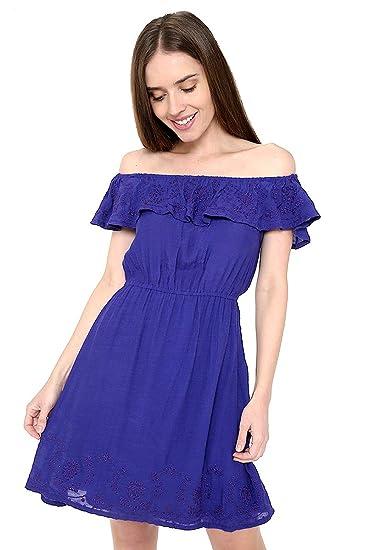Good Nžcool Vestido Azul Rey Vestido Para Mujer Azul Talla L