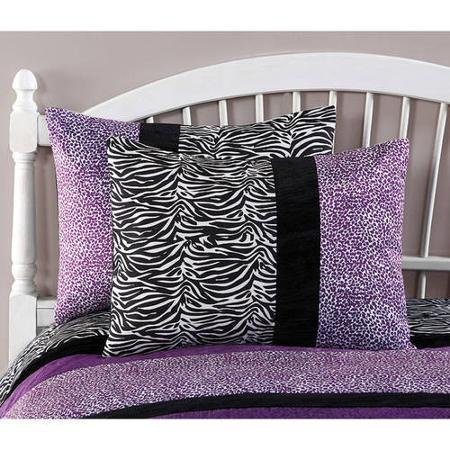 Your Zone Purple Pieced Animal Bedding Comforter Set - FULL/QUEEN by Your Zone