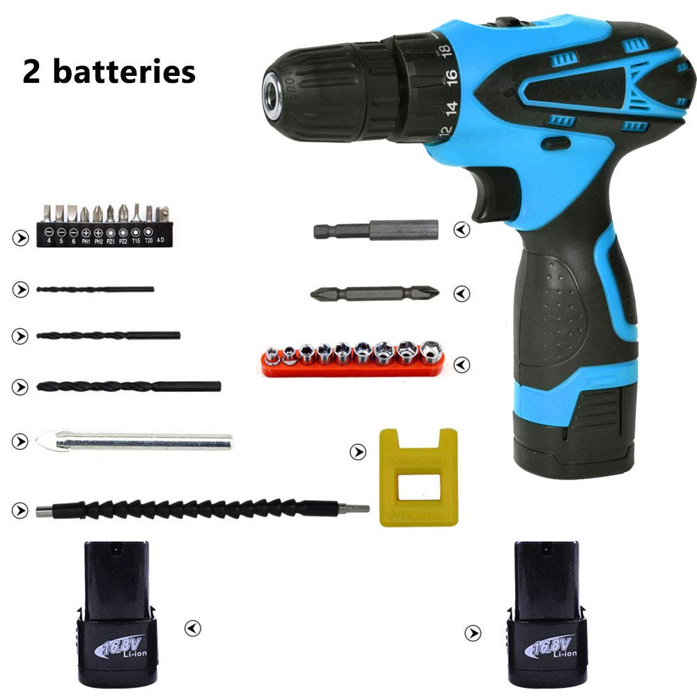 Cordless Drill Driver With 5200 Mah Nimh Battery, 18
