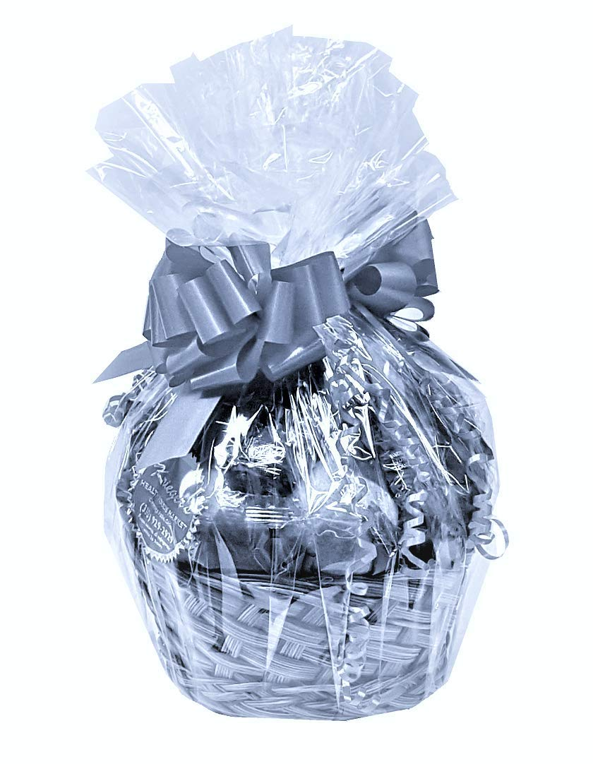 10 Extra Large Clear Cello Cellophane Bags Basket Packaging For Christmas Gift