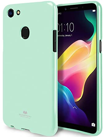 best website 6b902 6f6e6 GOOSPERY Marlang Marlang Oppo F5 Case - Mint Green, Free Screen Protector  [Slim Fit] TPU Case [Flexible] Pearl Jelly [Protection] Bumper Cover for ...