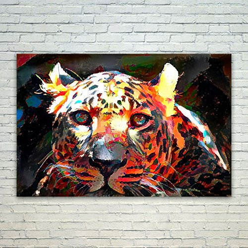 Westlake Art Leopard Zoo - Poster Print Wall Art - By Abstract Artwork Home Decor Office Birthday Christmas Gift - Unframed 12x18 Inch (Leopard Costume Face Paint)
