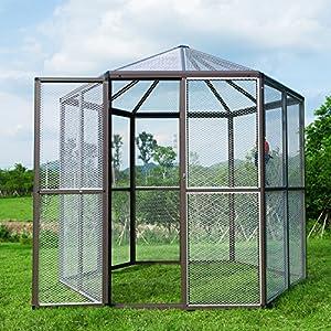 6. Bestmart INC Large Aluminum Walk-in Aviary