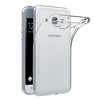 AICEK Funda Compatible Samsung Galaxy J1 2016, Samsung Galaxy J1(J120F) Funda Transparente Gel Silicona Galaxy J1 Premium Carcasa para Galaxy J1 4.5