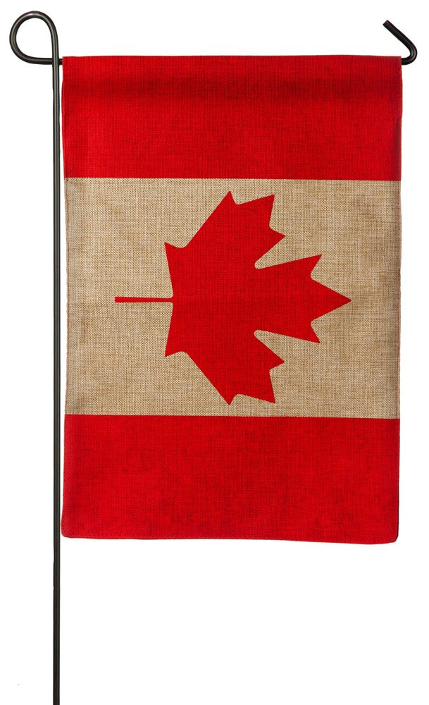 Evergreen Burlap Canadian Flag, Garden Size 12.5 x 18 inches product image