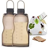 Haakaa Silicone Breastmilk Storage Bags Reusable Milk Storage Bags 260ml, 2pcs
