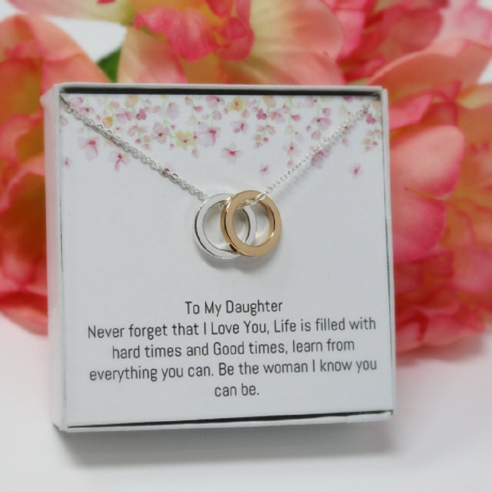 OnePurposeGifts to My Daughter Gifts Daughter Birthday Gifts Sweet 16 Gifts Graduation Gift Gifts for her (Gold/Silver) by OnePurposeGifts (Image #3)