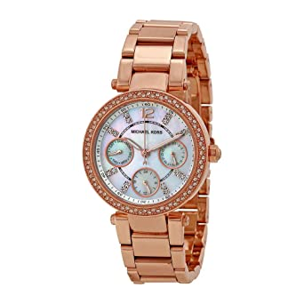 a2a2e0a9b491 Amazon.com  Michael Kors Women s Parker Rose Gold-Tone Watch MK5616  Michael  Kors  Watches