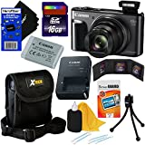 Canon PowerShot SX720 HS 20.3 MP Wi-Fi Digital Camera with 40x Optical Zoom & HD 1080p video (Black) + 9pc 16GB Accessory Kit w/ HeroFiber Gentle Cleaning Cloth