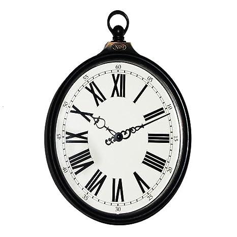 Jack Mall 8 Pulgadas American Village Retro Hacer el Viejo Oval en Forma de Colgante Reloj