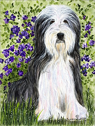 Caroline's Treasures SS8022CHF Bearded Collie Flag Canvas, Large, Multicolor