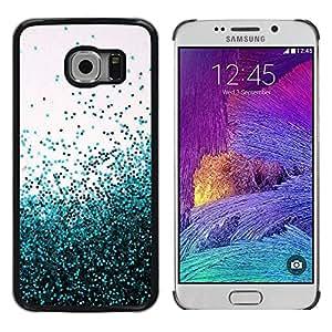 Paccase / SLIM PC / Aliminium Casa Carcasa Funda Case Cover para - Flying Spring Blue Entropy Mess - Samsung Galaxy S6 EDGE SM-G925
