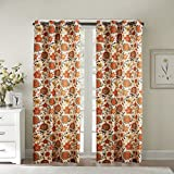 IYUEGO Contemporary Oil Painting Style Lovely Floral Grommet Top Lined Blackout Curtains Draperies With Multi Size Custom 100'' W x 96'' L (One Panel)