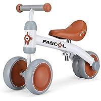 Fascol Bicicleta sin Pedales con Cojín Ajustable, Bicicleta Equilibrio Metálico con 4 Ruedas Cerradas, Bicicleta…